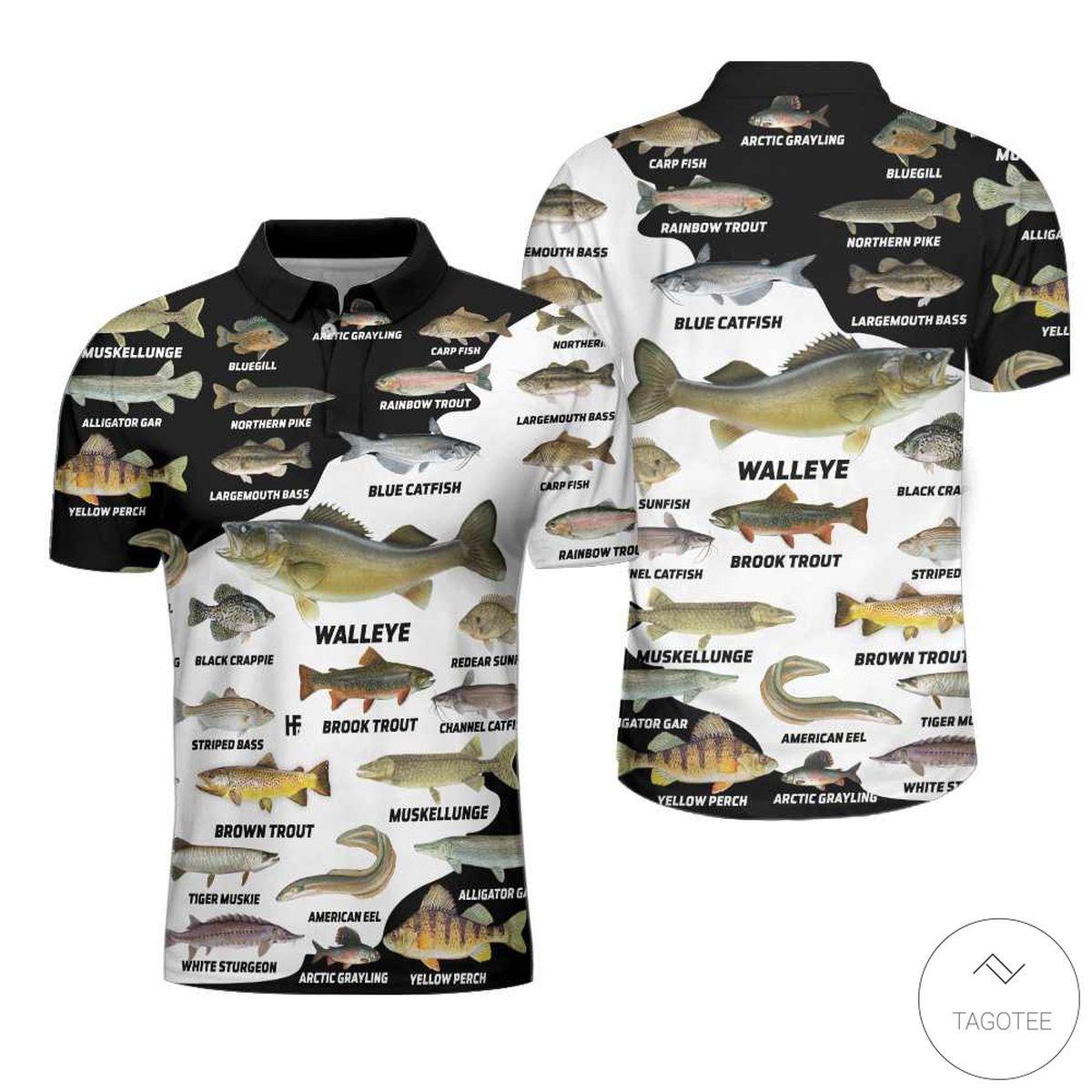 Freshwater Fish Types Polo Shirtx