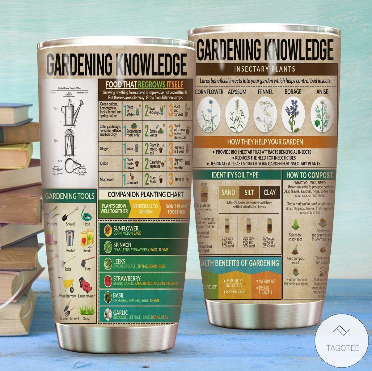 Gardening Knowledge Tumbler