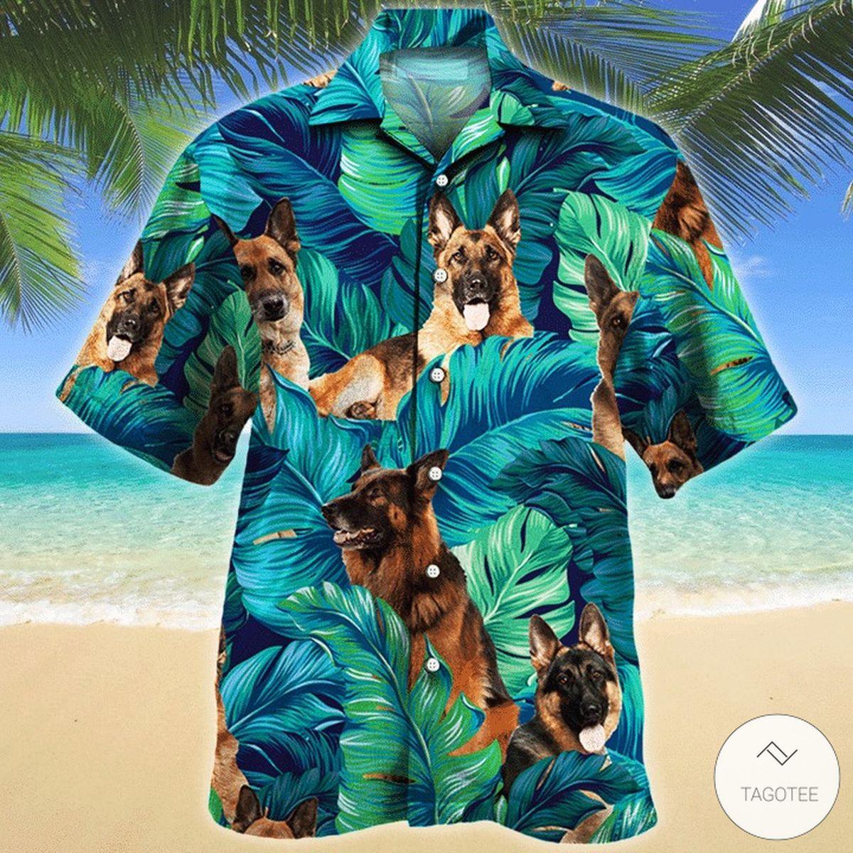 German Shepherd Dog Hawaiian Shirt
