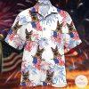 German Shepherd Fireworks Independence Day Hawaiian Shirt