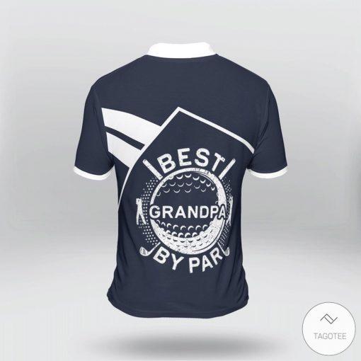 Golf Best Grandpa By Par Polo Shirtx