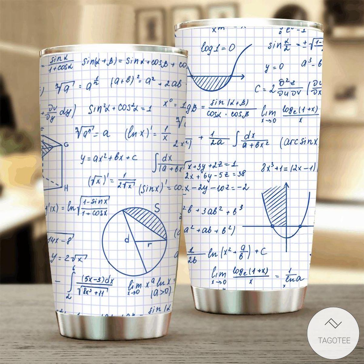 Graph Paper Math Tumbler