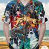 Great Dane Art Drawing Hawaiian Shirt