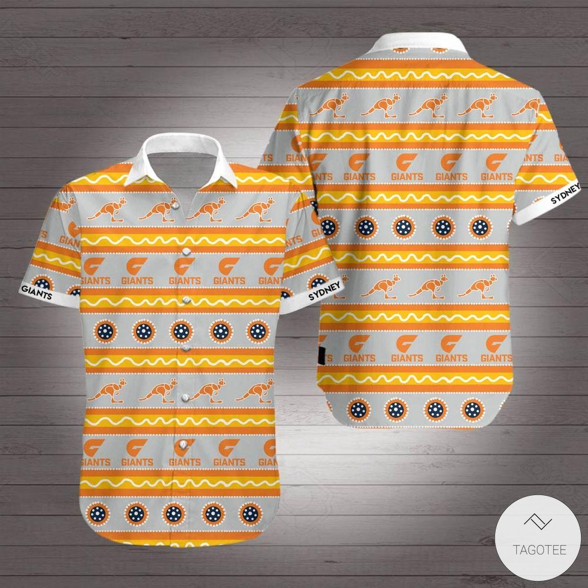 Greater Western Sydney Giants Hawaiian Shirt