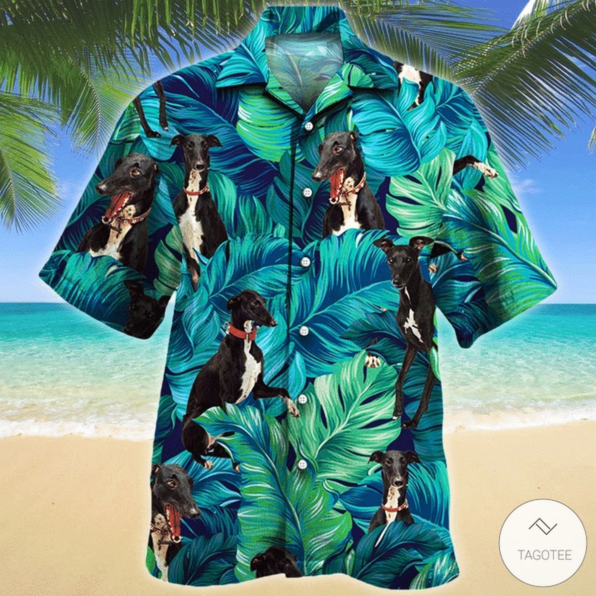 Greyhound Dog Hawaiian Shirt