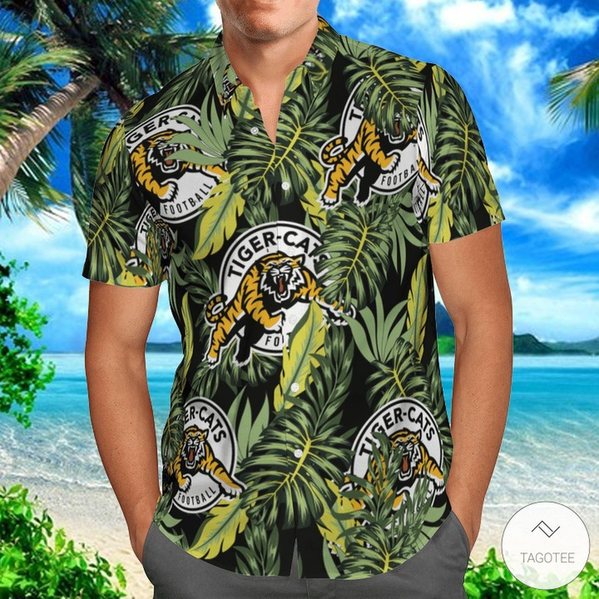 Hamilton Tiger-Cats Hawaiian Shirt
