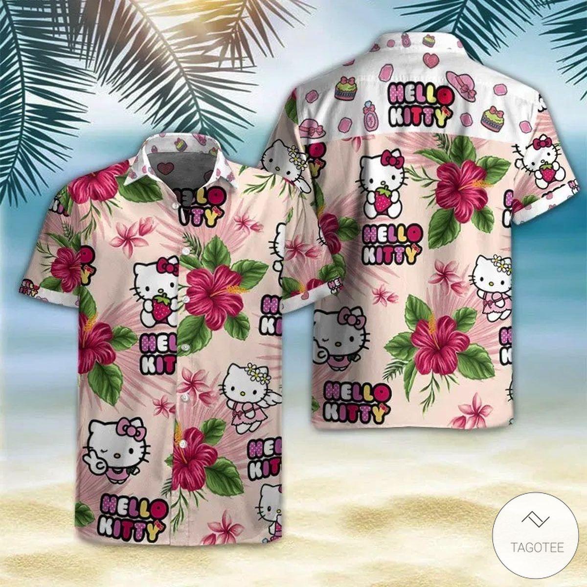 Hello Kitty Hawaiian Shirt