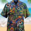 Hippie Owl Art Hawaiian Shirt