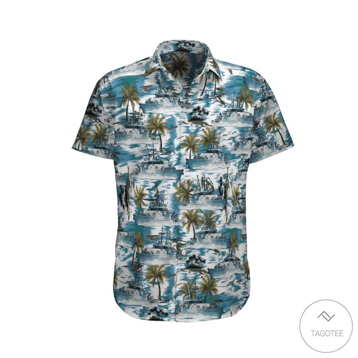Hmas Launceston (ACPB 94) Royal Australian Navy Hawaiian Shirt, Beach Shorts