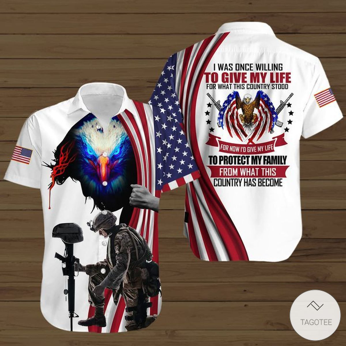 I Was One Willing To Give My Life For What This Country Stood Button Shirt