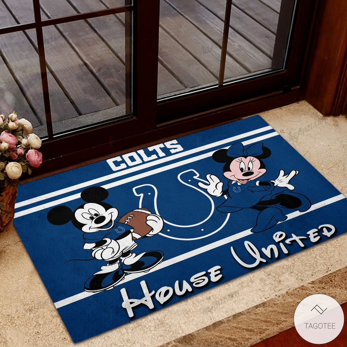 Indianapolis Colts House United Mickey Mouse And Minnie Mouse Doormat