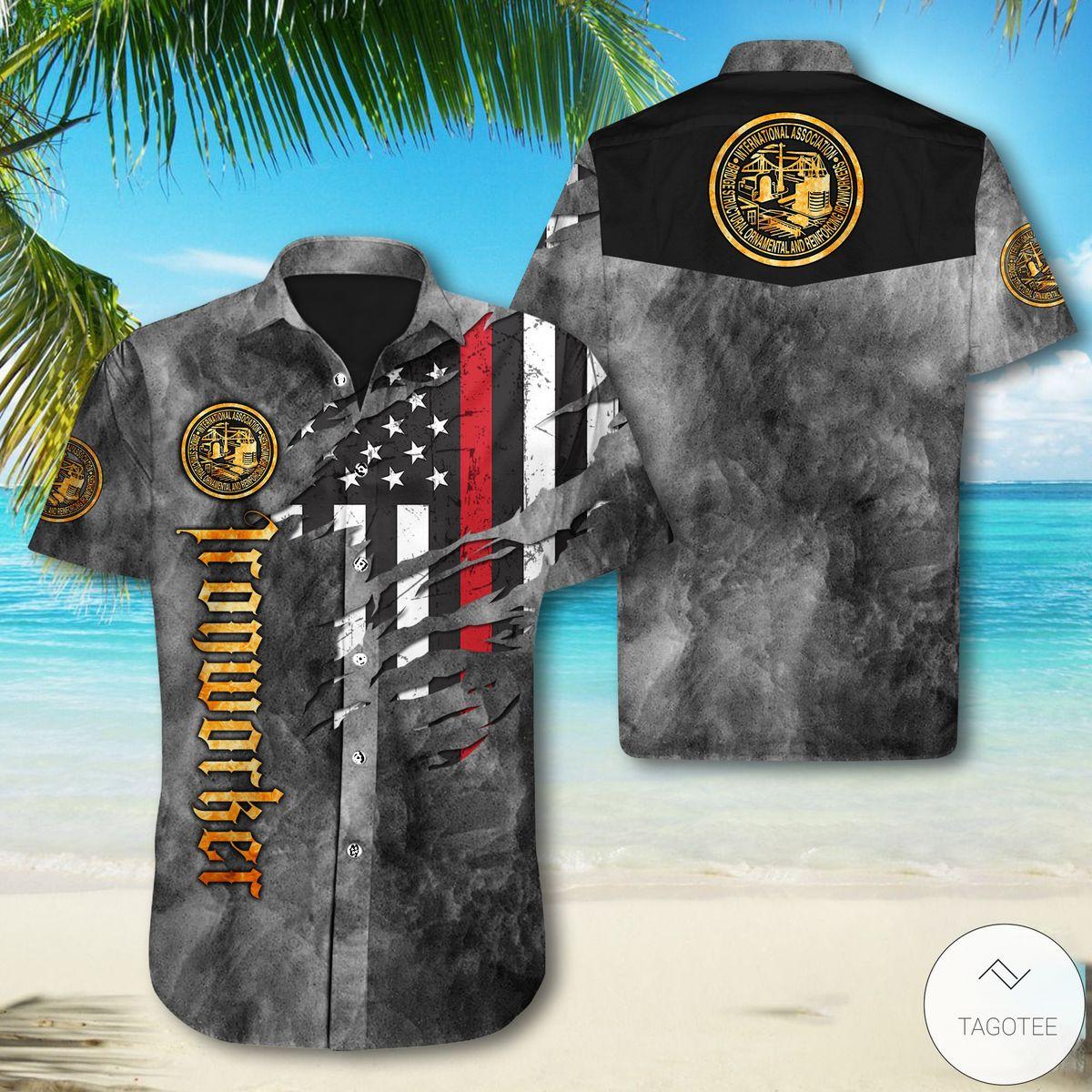 Ironworker Flag Button Shirt