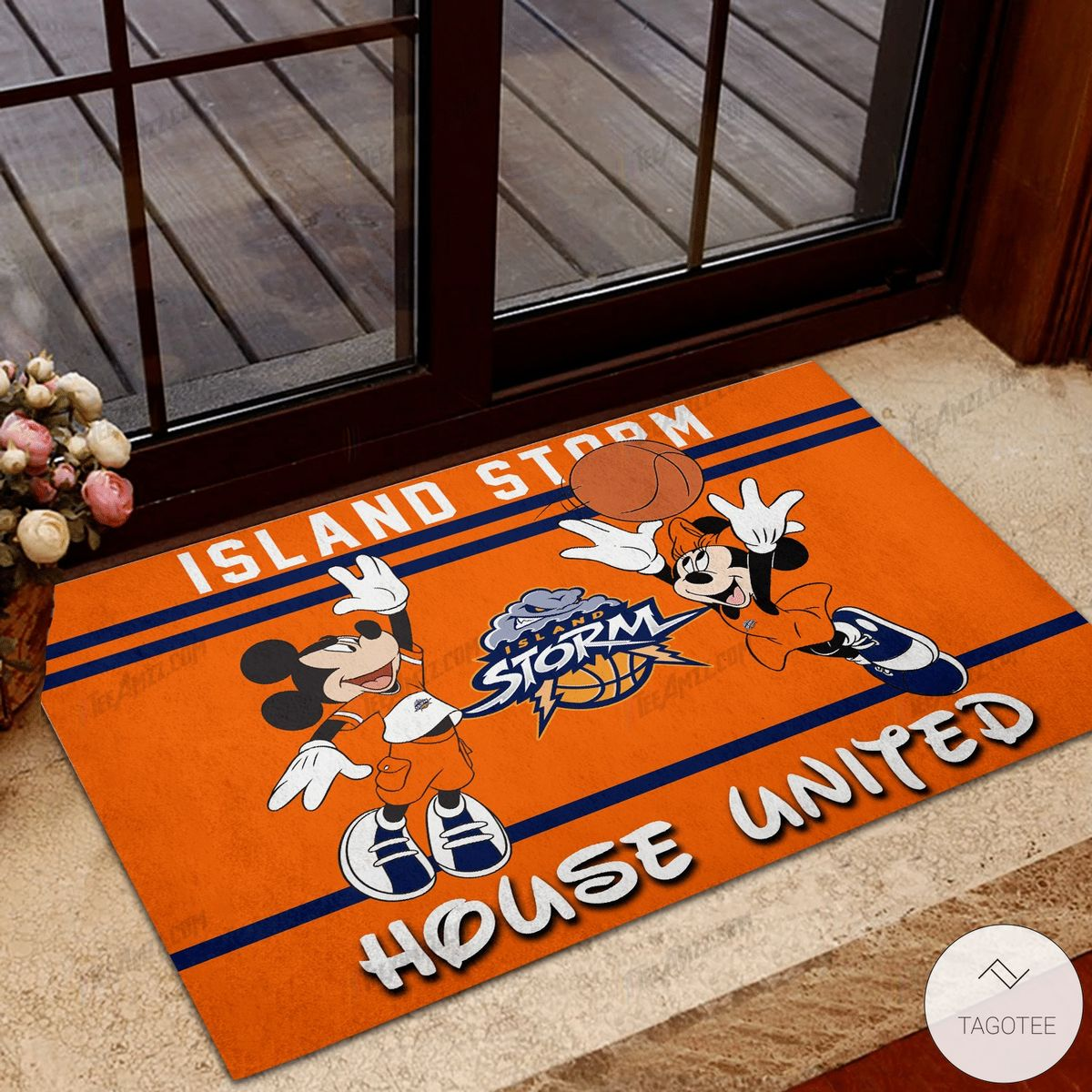 Island Storm House United Mickey Mouse And Minnie Mouse Doormat