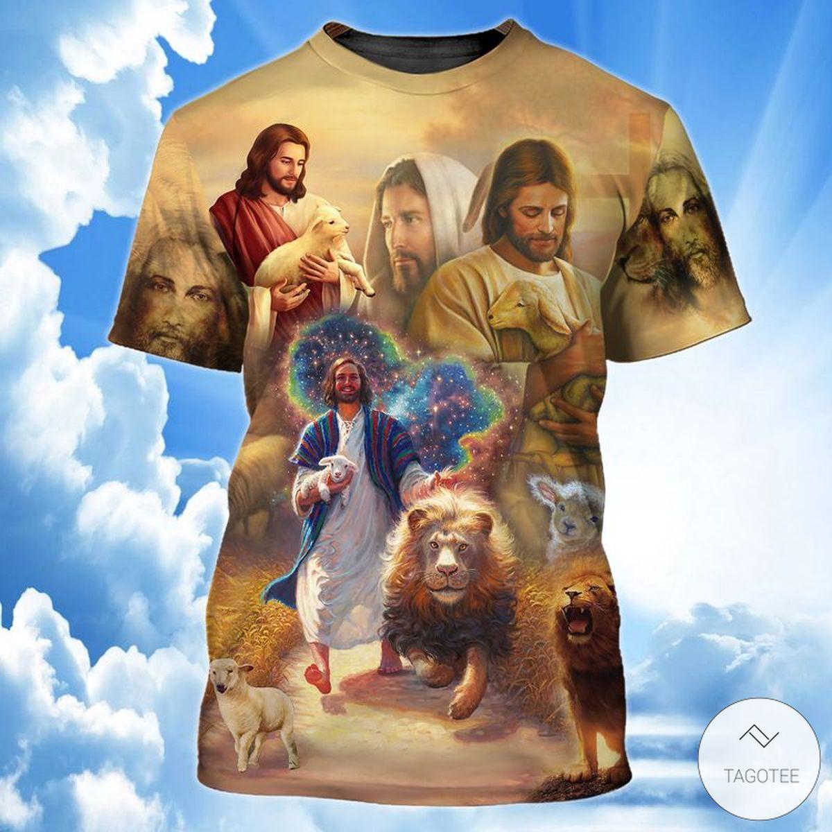 Jesus Lamb Of God Lion 3D T-shirt