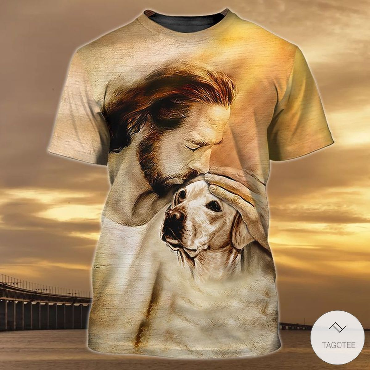 Jesus With Dog 3D T-shirt
