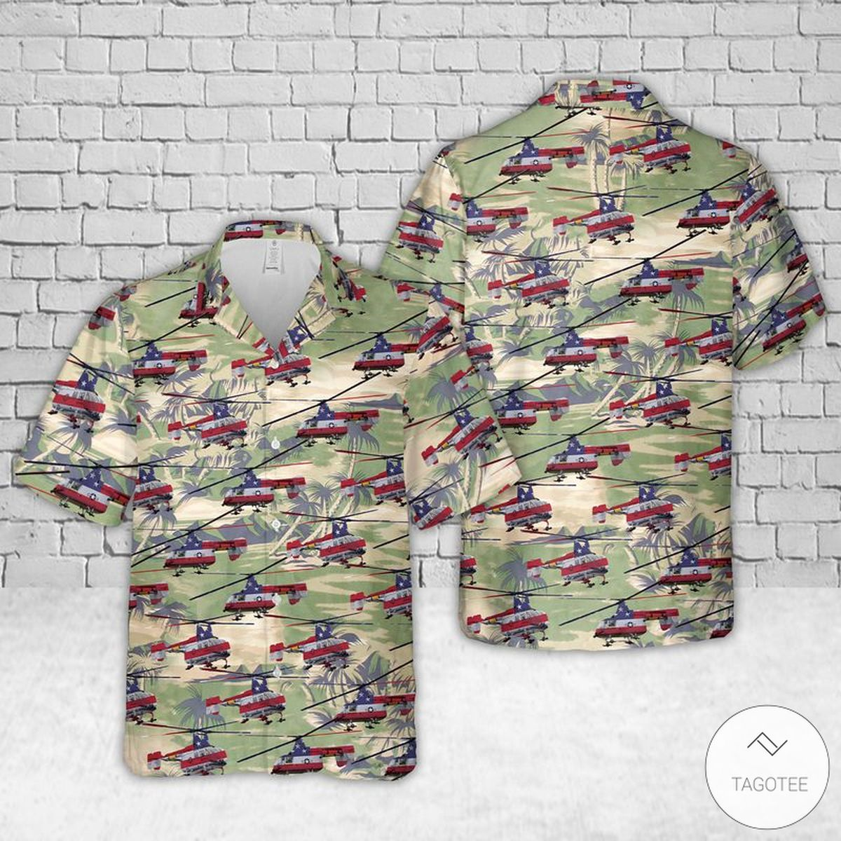 Kaman HH-43 Huskie US Air Force Hawaiian Shirt, Beach Shorts