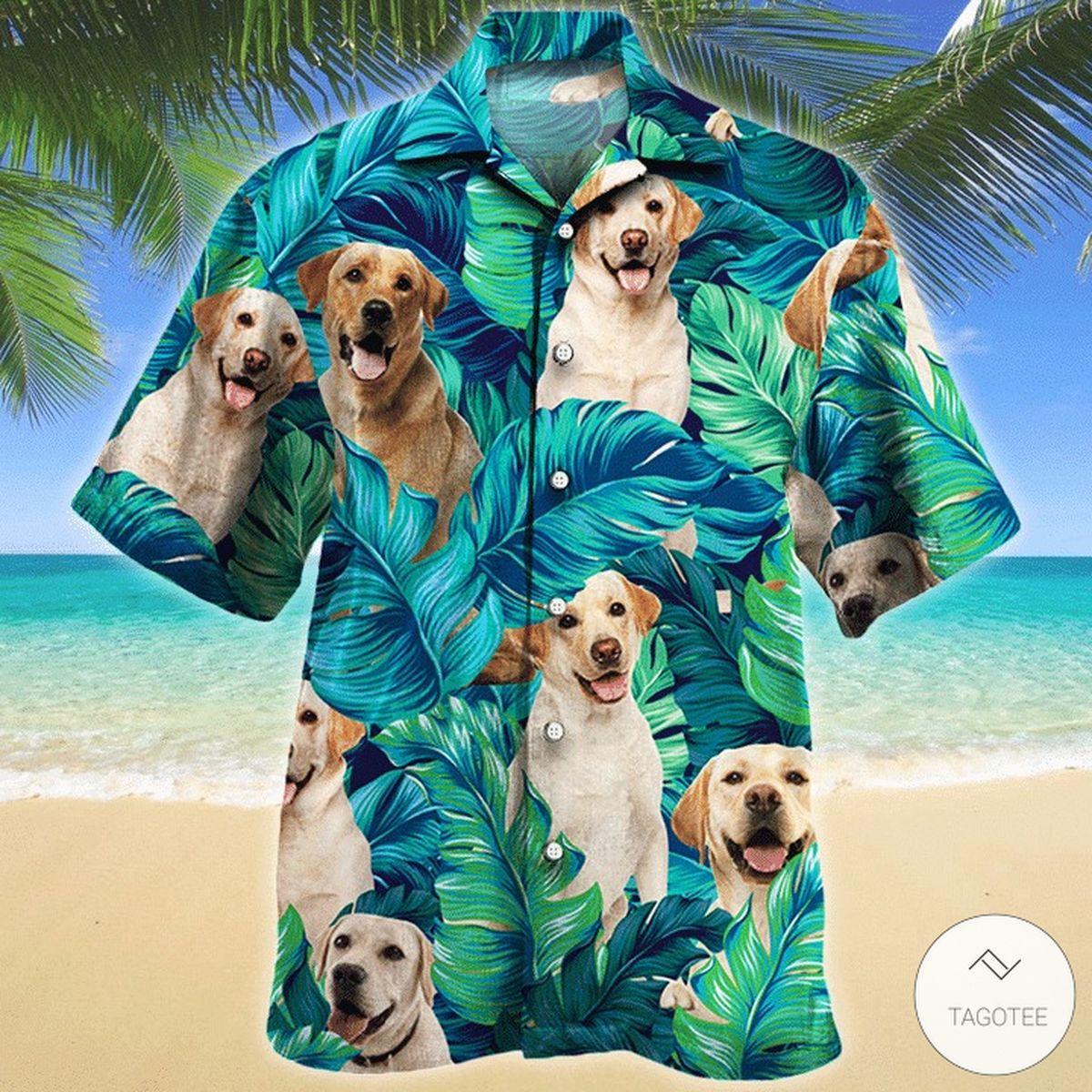 Labrador Retriever Dog Hawaiian Shirt
