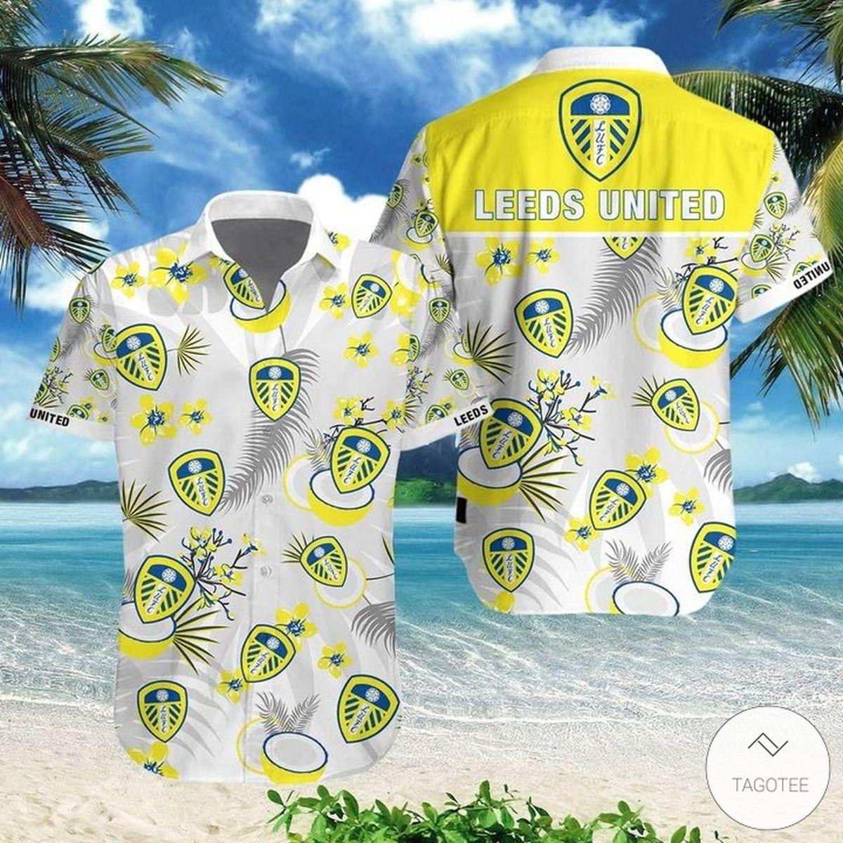 Leeds United Hawaiian Shirt