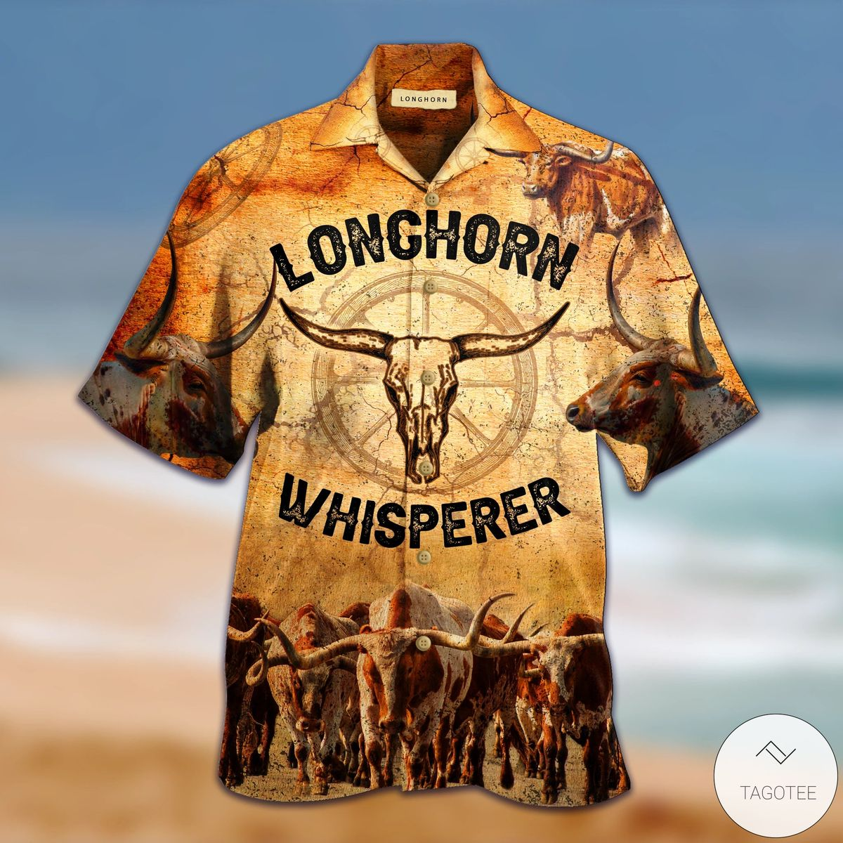 Longhorn Whisperer Hawaiian Shirt