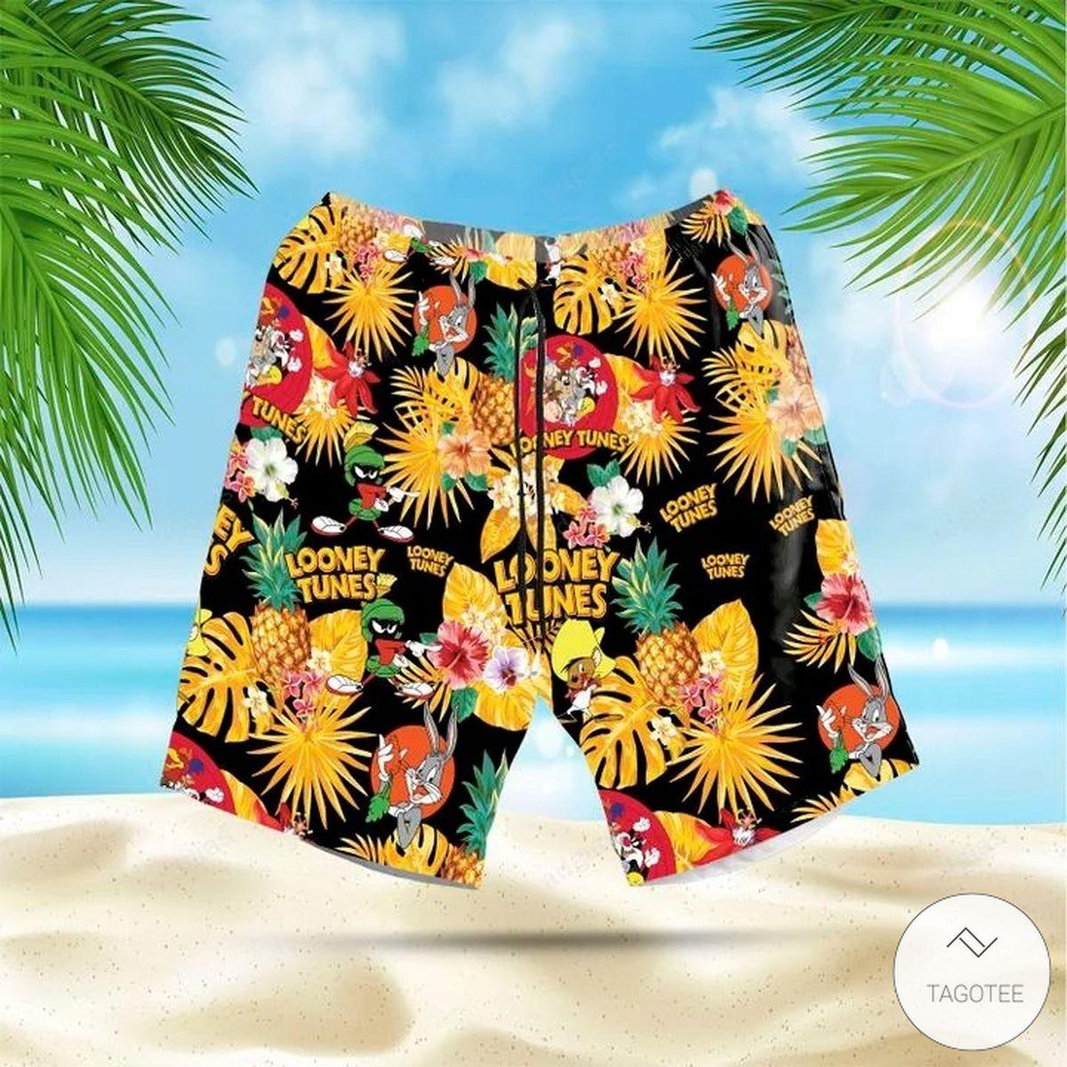 Looney Tunes Hawaiian Shirt, Beach Shortsz
