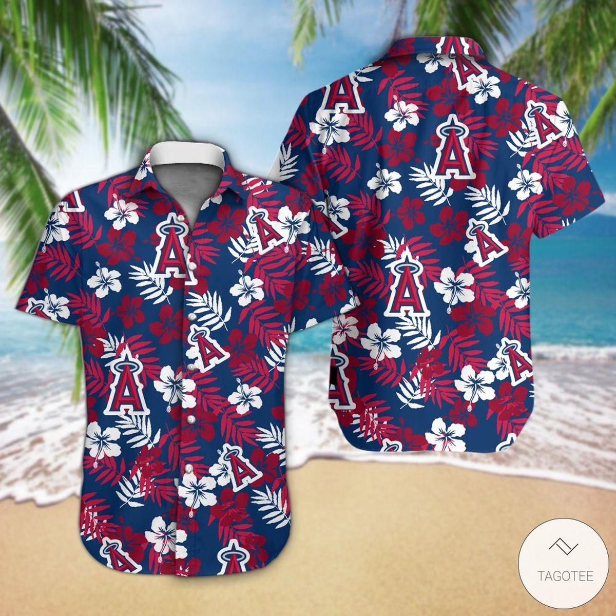 3D Los Angeles Angels Hawaiian Shirt