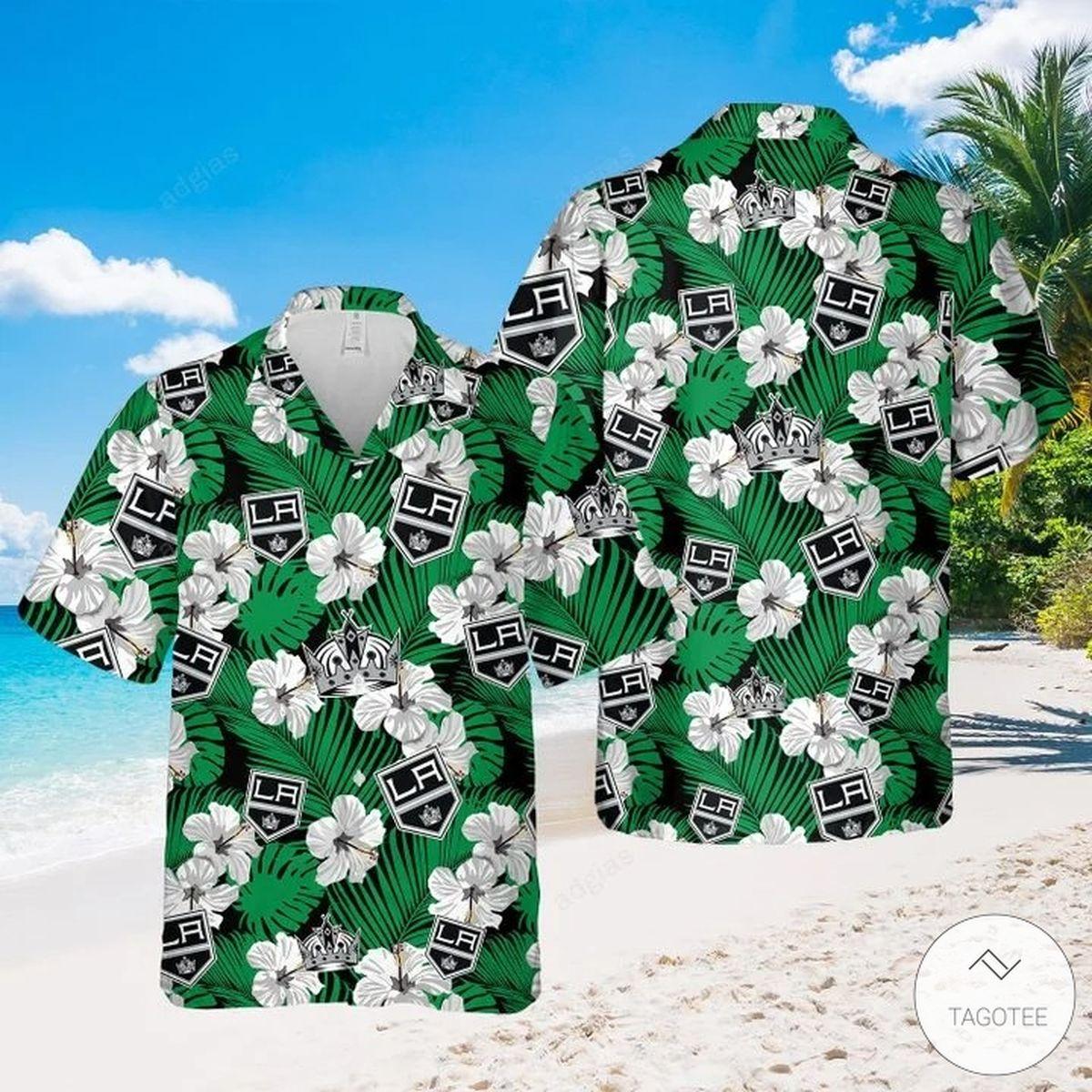 Los Angeles Kings Hawaiian Shirt, Beach Shorts