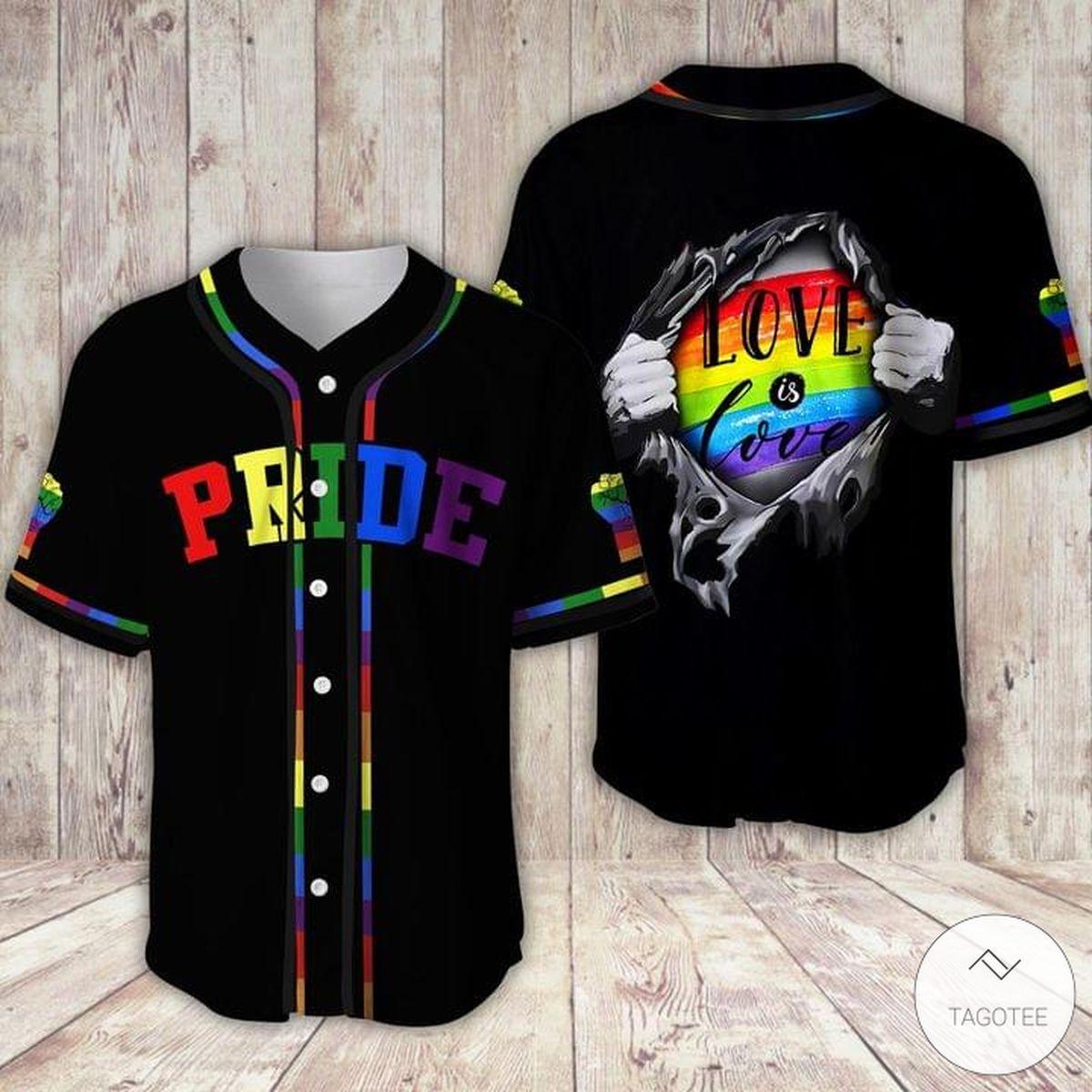 Love Is Love LGBT Pride Baseball Jersey