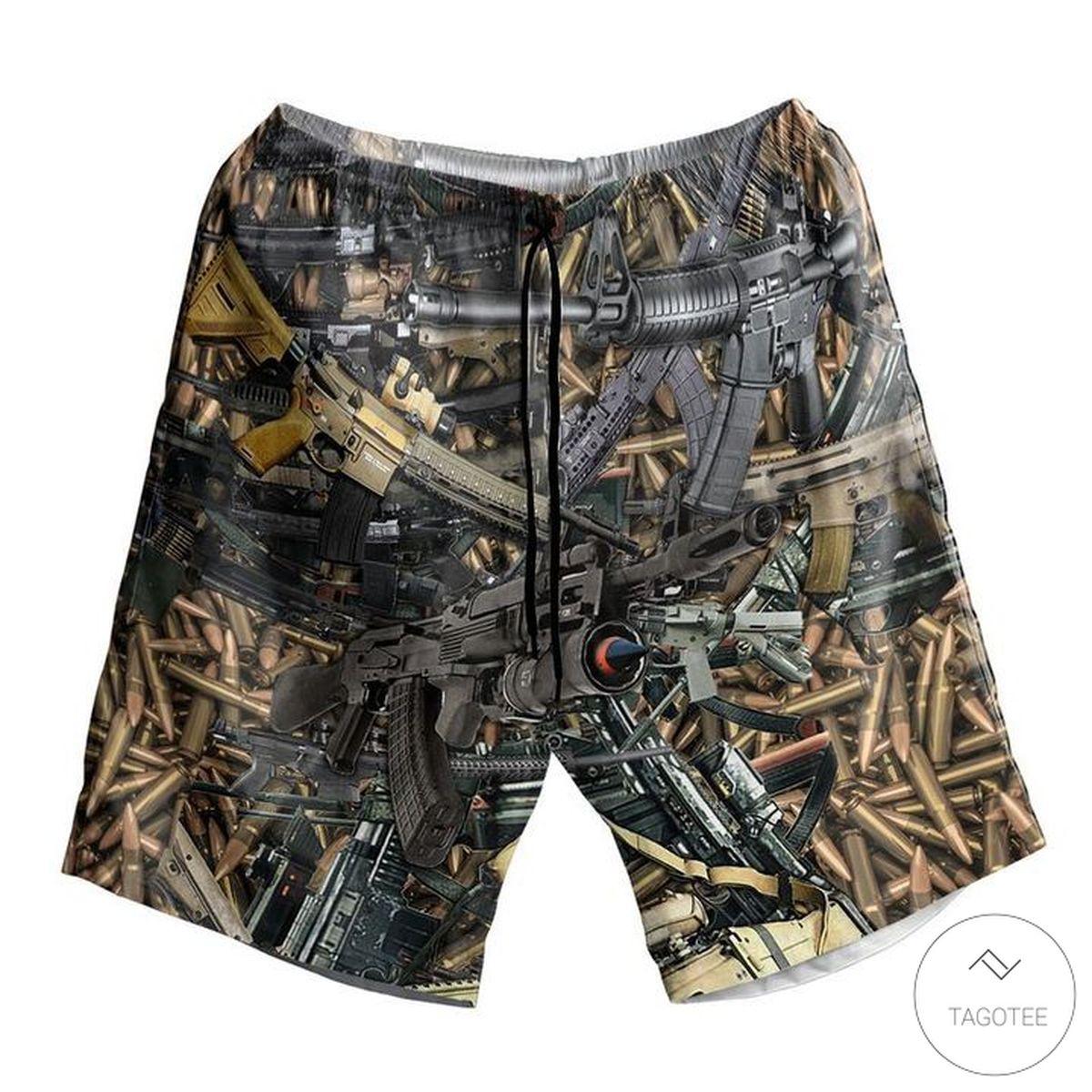 Machine Gun Beach Shorts