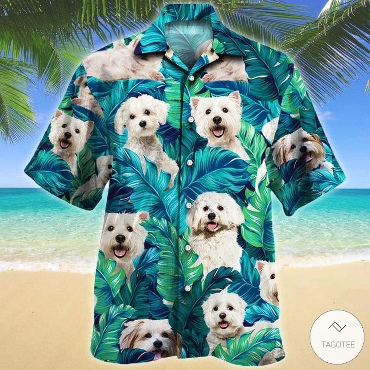Maltese Dog Hawaiian Shirt