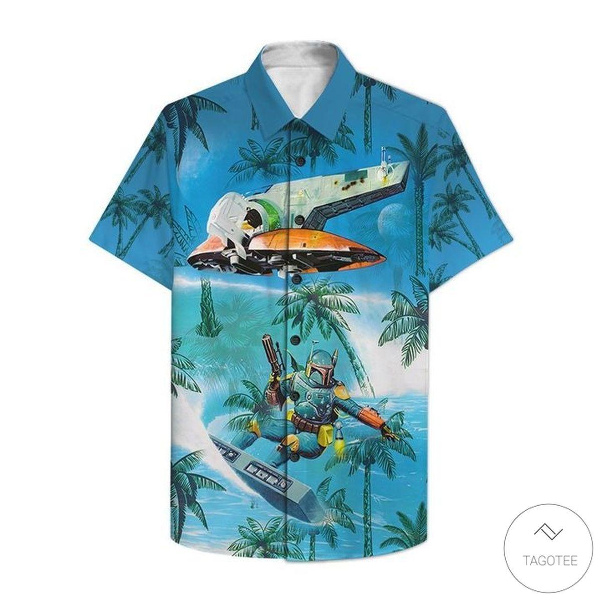 Hot Mandalorian Surfing Hawaiian Shirt, Beach Shorts