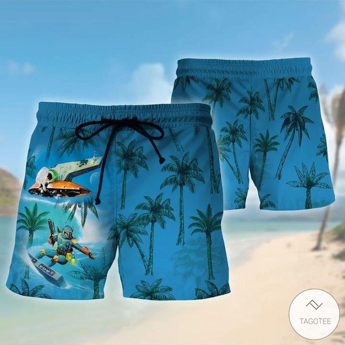 Best Gift Mandalorian Surfing Hawaiian Shirt, Beach Shorts