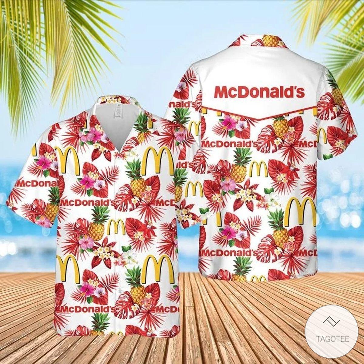 McDonald's Hawaiian Shirt, Beach Shorts