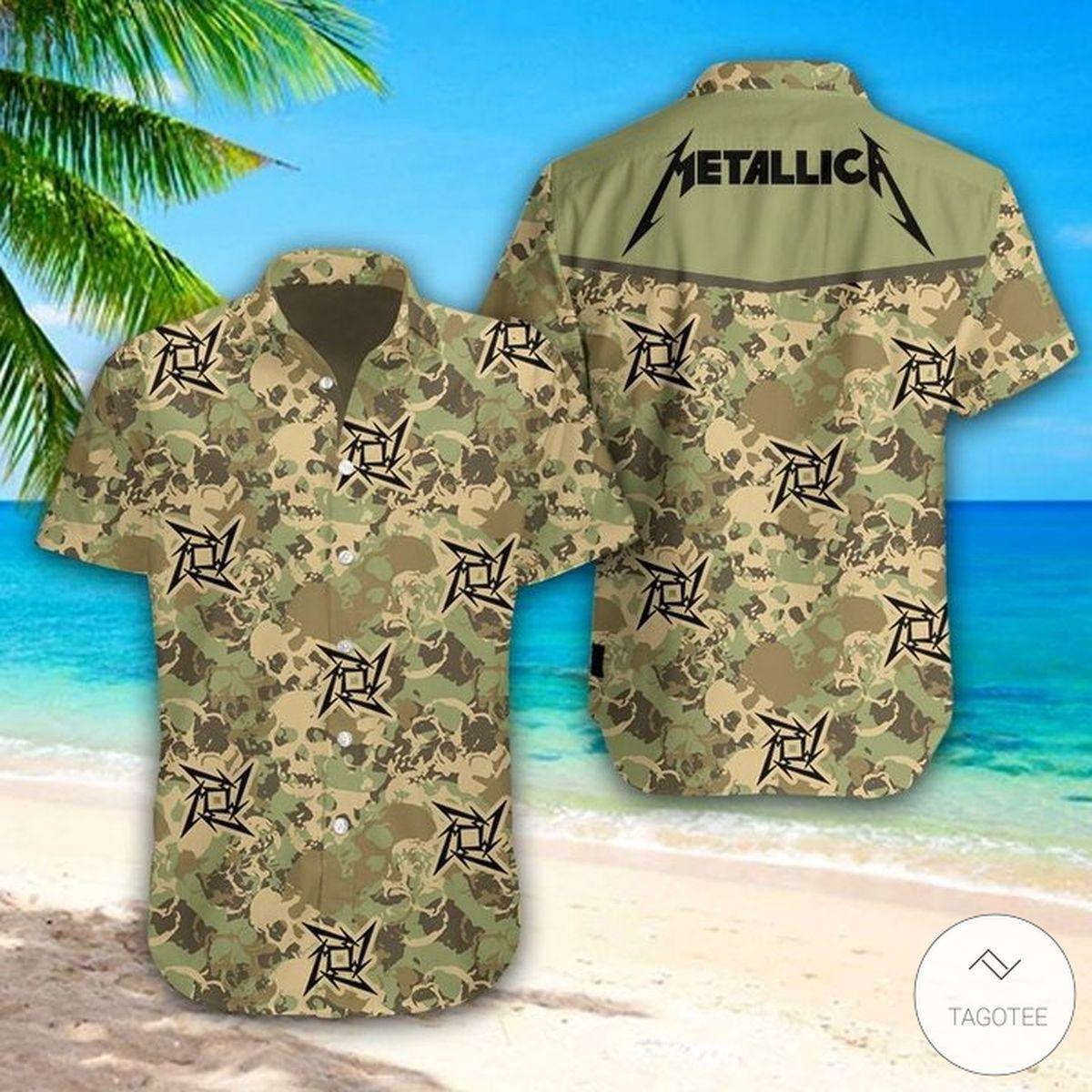 Metallica Army Camo Hawaiian Shirt