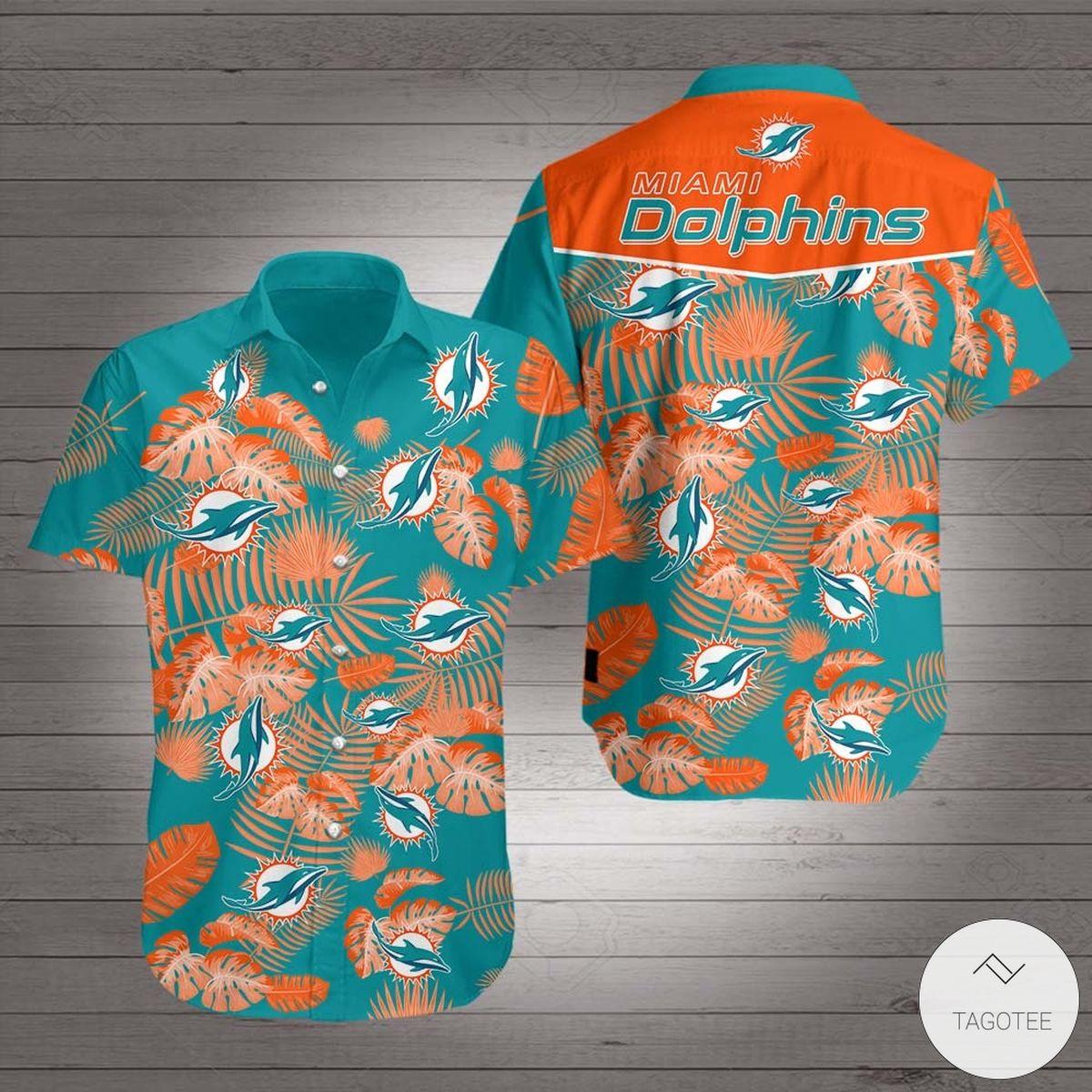 Clothing Miami Dolphins Hawaiian Shirt