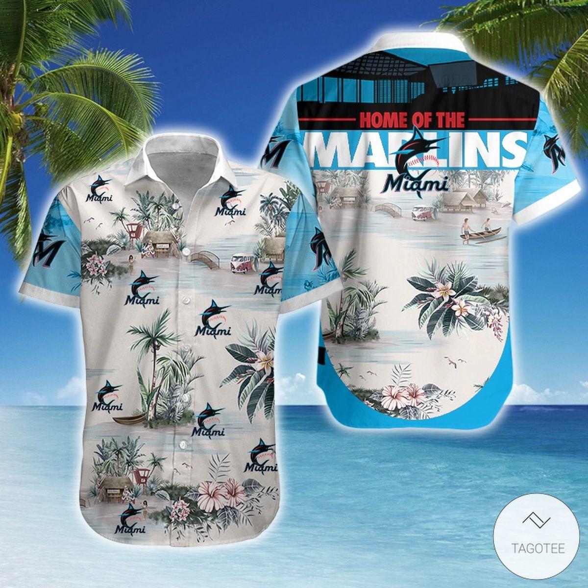Beautiful Miami Marlins Hawaiian Shirt