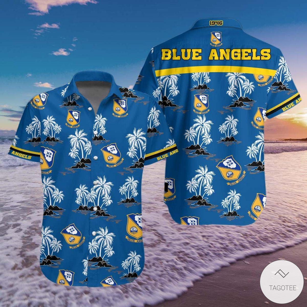 Mighty Blue Angels FC Hawaiian Shirt