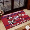 Montreal Canadiens House United Mickey Mouse And Minnie Mouse Doormat