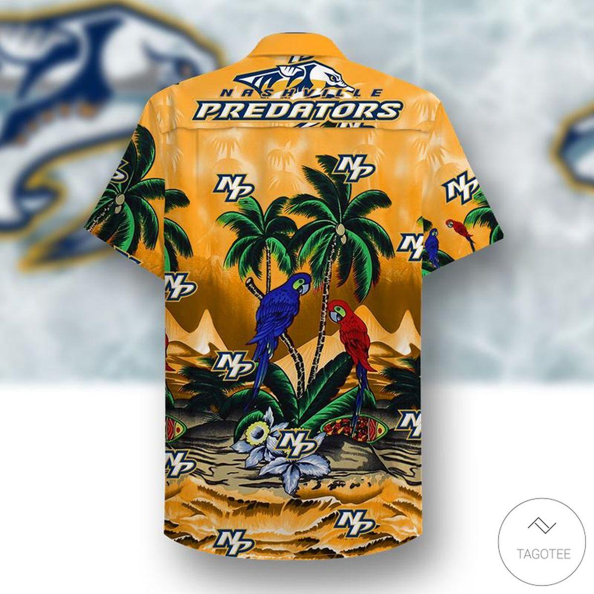 Nashville Predators Hawaiian Shirt x