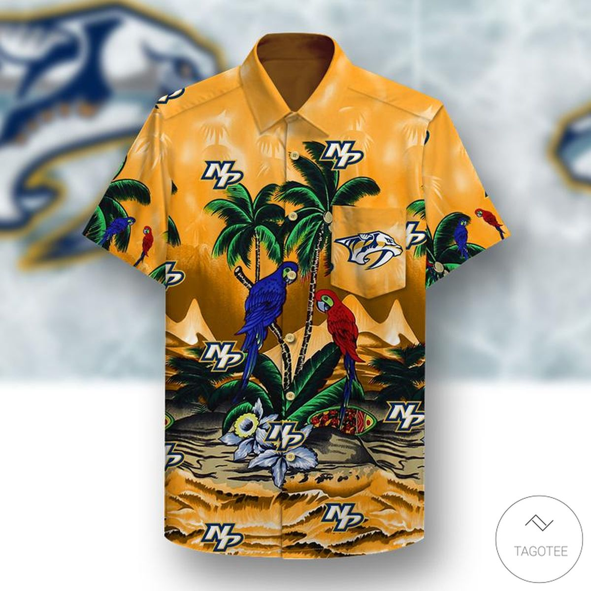 Nashville Predators Hawaiian Shirt z