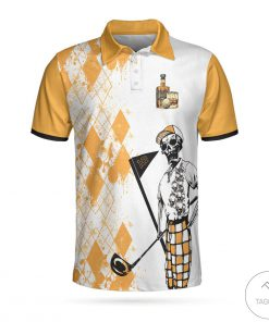 Never Underestimate An Old Man Who Loves Golf And Whisky Polo Shirtz