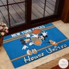 New York Knicks House United Mickey Mouse And Minnie Mouse Doormat