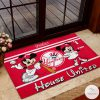 New York Yankees House United Mickey Mouse And Minnie Mouse Doormat