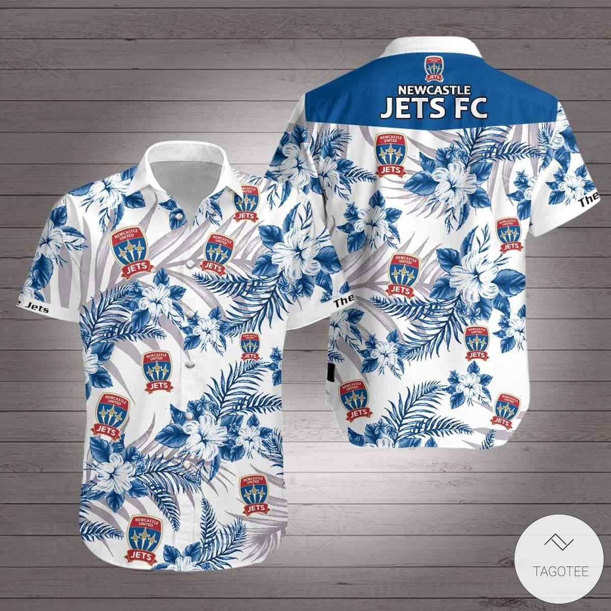 Newcastle Jets FC Hawaiian Shirt
