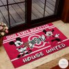 Ohio State Buckeyes House United Mickey Mouse And Minnie Mouse Doormat z