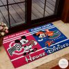 Ohio State Buckeyes house Divided Florida Gators Mickey Mouse And Minnie Mouse Doormat