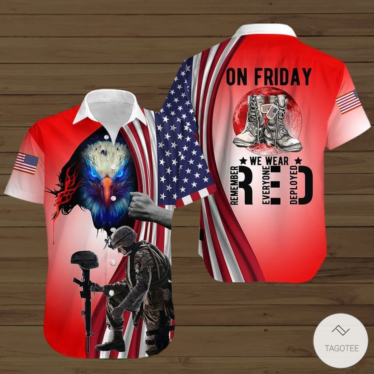 On Friday We Wear Red Button Shirt