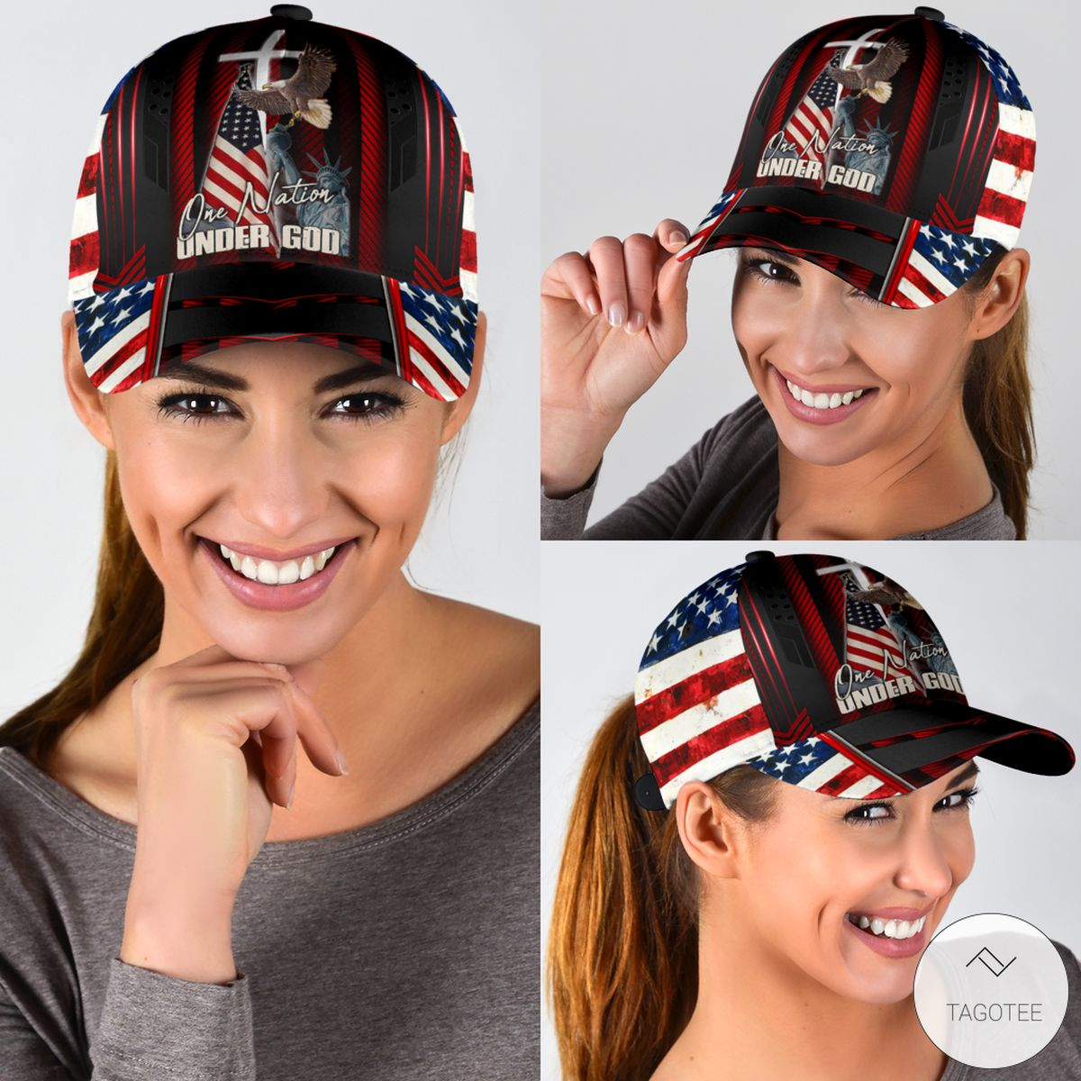 One Nation Under God 4th Of July Cap