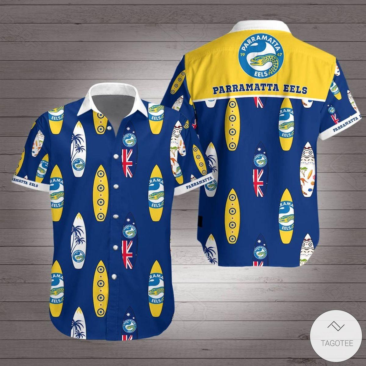 Parramatta Eels Hawaiian Shirt