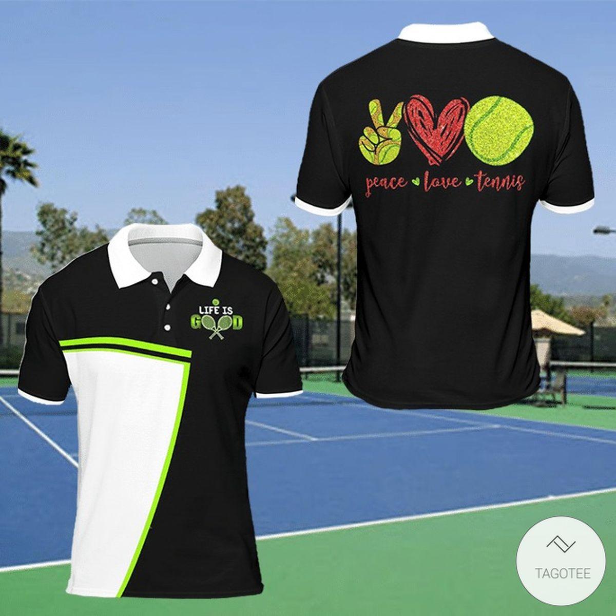 Peace Love Tennis Polo Shirt