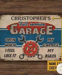 Personalized Auto Mechanic Garage Open When I Feel Like It Metal Signsx